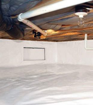 crawl space vapor barrier in Conway installed by our contractors