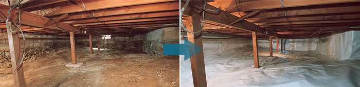 Crawl Space Repair in AR, including North Little Rock, Fayetteville & Little Rock.